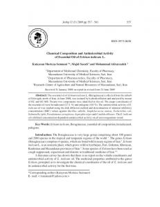 Chemical Composition and Antimicrobial Activity of Essential Oil of ...