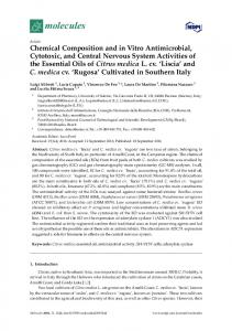 Chemical Composition and in Vitro Antimicrobial, Cytotoxic ... - MDPI
