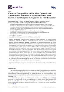 Chemical Composition and In Vitro Cytotoxic and Antimicrobial ... - MDPI
