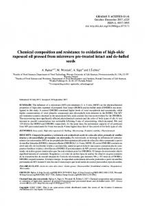 Chemical composition and resistance to oxidation