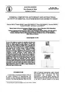 chemical composition, antioxidant and antibacterial activity of ...