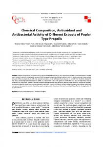 Chemical Composition, Antioxidant and Antibacterial Activity of