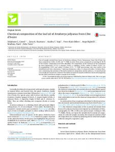 Chemical composition of the leaf oil of Artabotrys jollyanus ... - SciELO