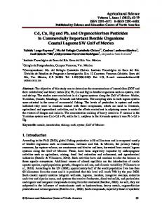 Chemical contaminants in commercially important