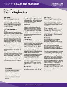 Chemical engineering - Kansas State University