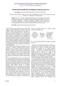 Chemical functionalization of graphene by plasma ...