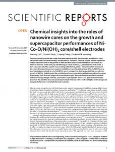 Chemical insights into the roles of nanowire cores on ... - CyberLeninka