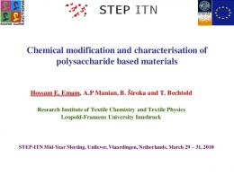 Chemical modification and characterisation of ...