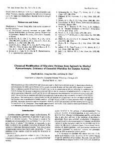 Chemical Modification of Glycolate Oxidase from Spinach by Diethyl ...