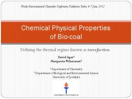 Chemical Physical Properties of Bio-coal