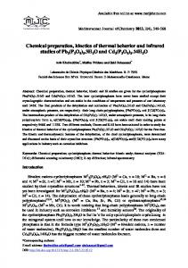 Chemical preparation, kinetics of thermal behavior and ... - CiteSeerX