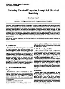 chemical properties of soil, electrical resistivity of soil, relation between