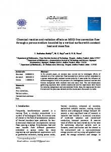 Chemical reaction and radiation effects on MHD free ... - JCARME