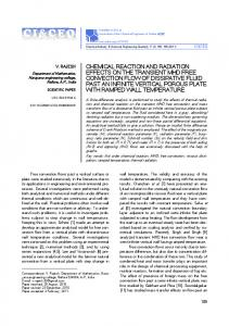 chemical reaction and radiation effects on the transient mhd free