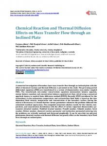 Chemical Reaction and Thermal Diffusion Effects
