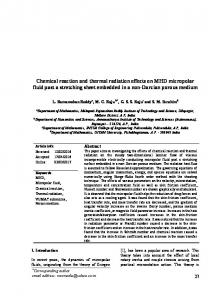 Chemical reaction and thermal radiation effects on MHD ... - JCARME