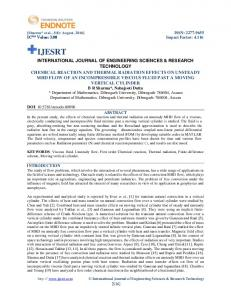 chemical reaction and thermal radiation effects on unsteady ... - IJESRT