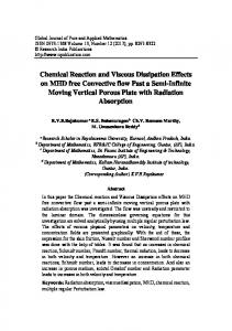 Chemical Reaction and Viscous Dissipation Effects on MHD free