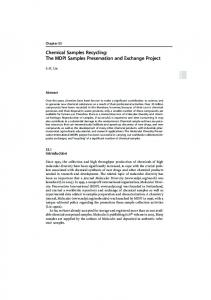 Chemical Samples Recycling: The MDPI Samples Preservation and ...