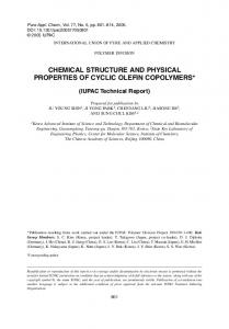 chemical structure and physical properties of cyclic ... - Semantic Scholar