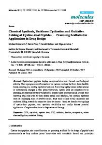Chemical Synthesis, Backbone Cyclization and