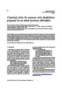 Chemical toilet for persons with disabilities