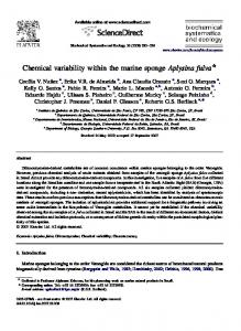 Chemical variability within the marine sponge