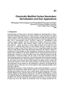 Chemically Modified Carbon Nanotubes
