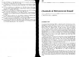 Chemicals of Botryococcus braun