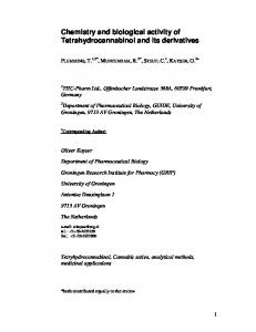 Chemistry and biological activity of