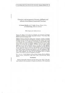 Chemistry and paragenesis of faujasite, phillipsite ...