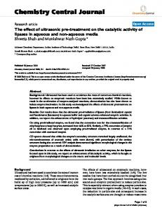 Chemistry Central Journal - BioMedSearch
