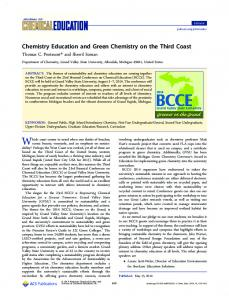 Chemistry Education and Green Chemistry on the ... - ACS Publications