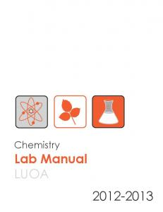 Chemistry Lab Manual - Liberty University