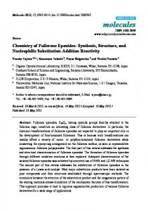 Chemistry of Fullerene Epoxides: Synthesis, Structure ... - CiteSeerX