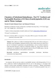 Chemistry of Substituted Quinolinones. Part VI. Synthesis and ...