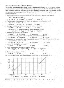 Chemistry Placement Test - Sample Questions ... - De Anza College