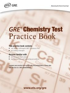 Chemistry Practice Book (PDF) - ETS