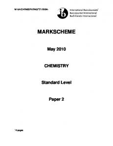Chemistry SL paper 2 TZ1 May 2010 MS.pdf - FreeExamPapers