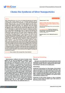 Chemo-bio Synthesis of Silver Nanoparticles