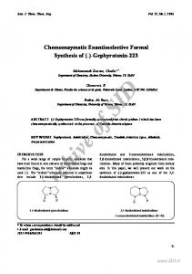 Chemoenzymatic Enantioselective Formal Synthesis of