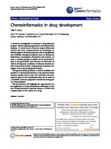 Chemoinformatics in drug development - Springer Link