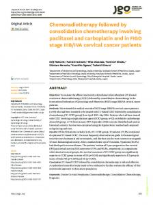 Chemoradiotherapy followed by consolidation