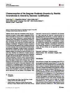 Chemoreception of the Seagrass Posidonia Oceanica ...