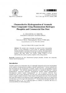 Chemoselective Hydrogenation of Aromatic Nitro Compounds Using