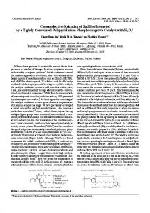 Chemoselective Oxidation of Sulfides Promoted by a ...