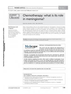 Chemotherapy: what is its role in meningioma?