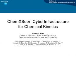 ChemXSeer: CyberInfrastructure for Chemical Kinetics