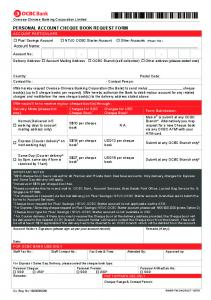 cheque book request form - OCBC Bank