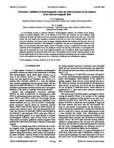 Cherenkov radiation of electromagnetic waves by electron beams in